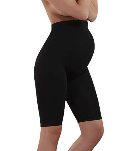 Doreanse Umstandshose Radlerhose Umstandsshorts Schwangerschafts-Shorts Modal Baumwolle Soft Cotton Maternity Shorts (38 - M, Schwarz)