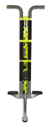 ThinkGizmos Bâton Sauteur pour Les utilisateurs de 36kg à 72 kg - Le bâton Sauteur de Aero Legend pour Les Enfants (&Les Adultes légers) - Une Construction Solide de qualité (Noir et Jaune)