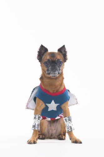 Hunde Kostüm Superdog - Fashion Pet Hundemarke Halloween Superdog Boy Kostüm für Hunde, XS