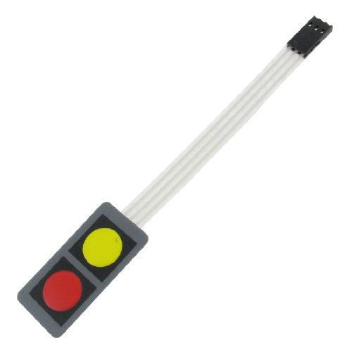 Folientastatur, Array-Taste, 40 x 20 x 0,8°mm, Gleichstrom 12°V 30°mA, Typ 1x2 (12 Flach R Typ)