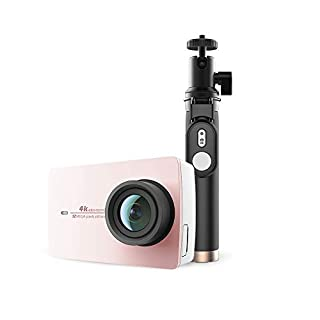 """YI Action Camera 4K con Selfie Stick Bluetooth Remote Action Cam 12MP con LCD Touch Screen 5,56 cm (2,2"""") e WiFi,App per iOS/Andriod (B07NPMSRJP) 