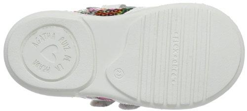 Agatha Ruiz de la Prada 142916, Hi-Top Sneakers fille Blanc - Weiß (Blanco y plata)