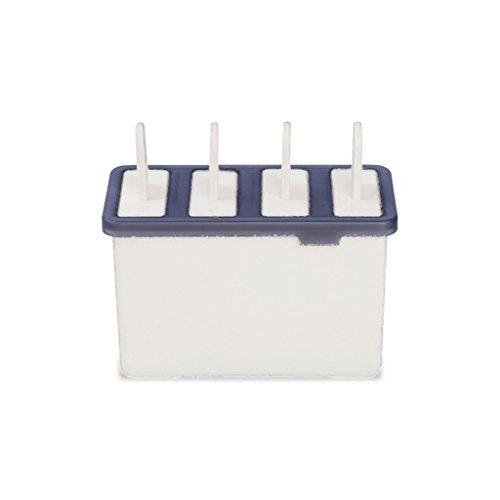 beautop 4Zellen Kunststoff Popsicle Schimmel Haushalt Frozen Ice Creme Maker Form Küche Werkzeuge 13.5*8.5*5.7cm beige (Ice Maker Schimmel)