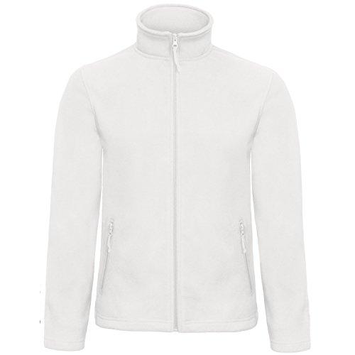 B&C Collection Herren ID 501 Mikro Fleece Jacke (XL) (Weiß)