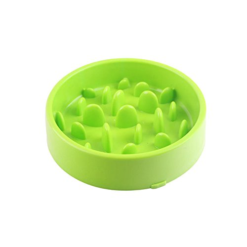 Meioro Pet Dog Slow Food Bowl Anti-choke Bowl Pet supplies Large And Small Dogs Lose Weight To Help Digestion Pet Utensils Slow Feeder Dog Bowl (2-Grün) -