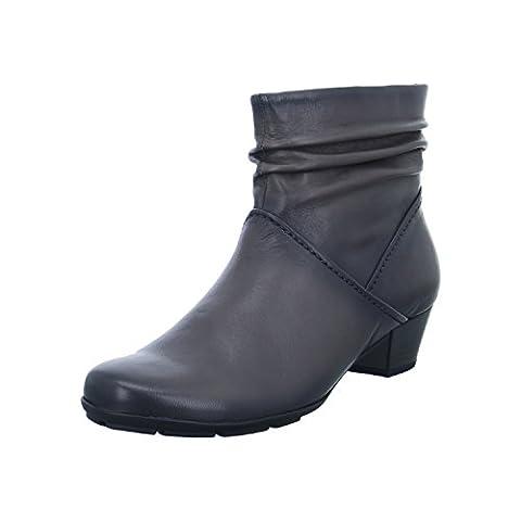 Gabor 75-637 Schuhe Damen Stiefeletten Ankle Boots Best Fitting, Schuhgröße:38.5;Farbe:Grau