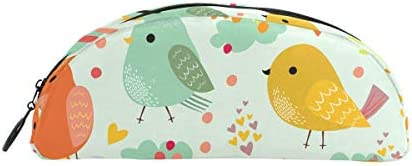 Cute Colourful Birds Trousse Pochette Sac Fermeture Éclair Petit Petit Petit sac Maquillage articles de papeterie pour enfants Fille ado garçon l'école B07HQHQ366 | Des Styles Différents  8bab87