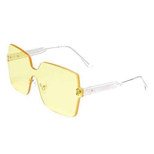 REALIKE Unisex Damen Herren Quadrat Rahmen Farben Verspiegelt Transparent Sonnenbrille Anti-UV...