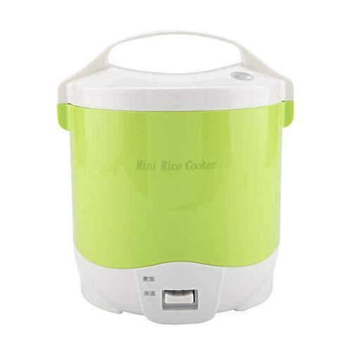 Mini fiambrera del camión del coche del vapor del hervidor de arroz de 24V 180W 1.6L para el arroz, la sopa, las gachas de avena y mantener caliente(Green)