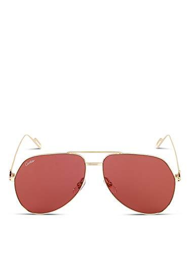 Cartier luxury fashion uomo ct0110s010 oro occhiali da sole | autunno inverno 19