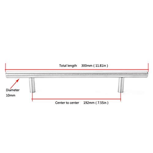 Censhaorme Durchmesser 10 mm Edelstahl-Küche-Tür-Kabinett-T Schalengriff Knob Griff Griff Ziehen
