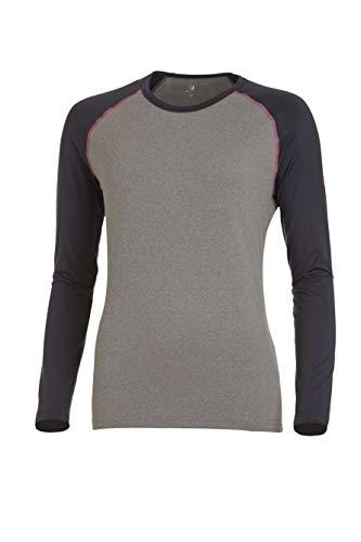 Medico Damen Langarm Unterhemd Funktionsshirt Thermowäsche - Anthrazit/Melange/Grau - 38
