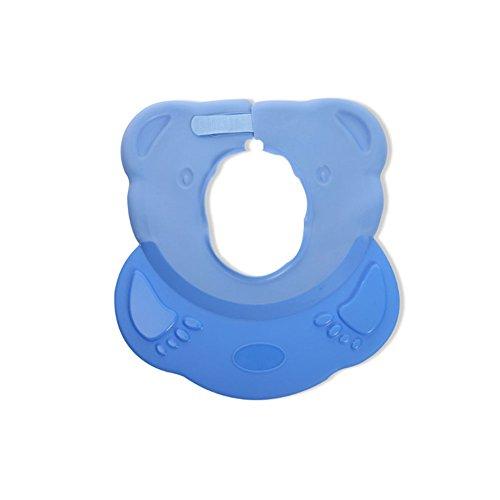 EVNEED Baby Dusche Hat, Safe Baby Bad Visier, Baby Haar Waschen Shield mit Ohr Schutz Pads angenehm weiches Baby Baden Gap blau