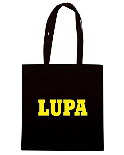 T-Shirtshock - Borsa Shopping WC0953 LUPA ITALIA CITTA STEMMA LOGO Nero