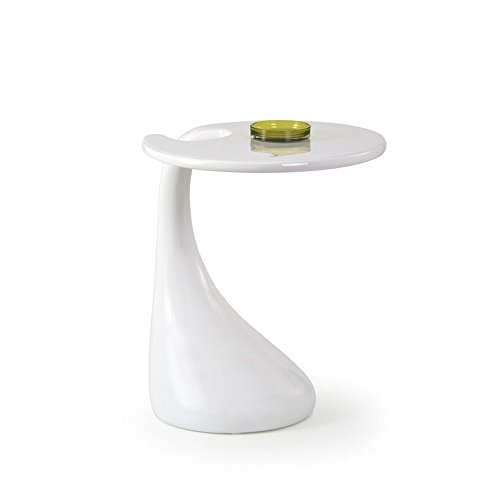 JUSTyou Veva Table d'appoint (HxD): 57x45 cm Couleur: Blanc