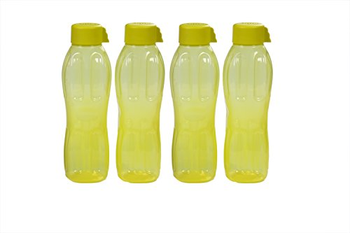 Signoraware Aqua Water Bottle Set, 1 Litre, Set of 4, Floro Green