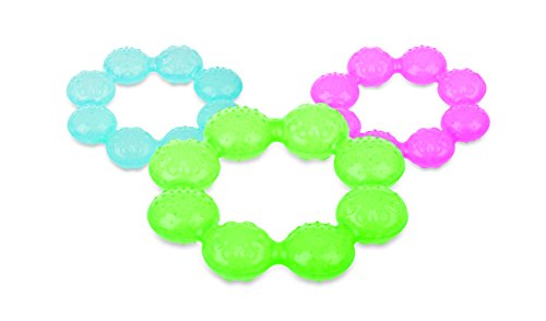 Nûby Refrigerating teething rings Ice-gel + 3months – Random model 31j2ONWS8fL