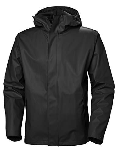 Helly Hansen Moss Outdoor Chaqueta Impermeable, Hombre, Black, S