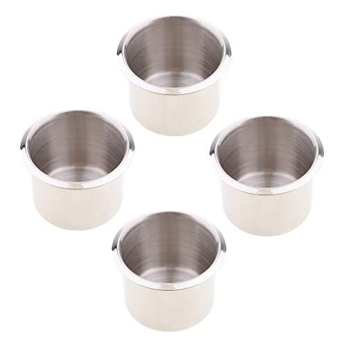 perfk 4 Pcs Cup Getränk Dosenhalter Aschenbecher Aus Edelstahl 68 x 55 mm