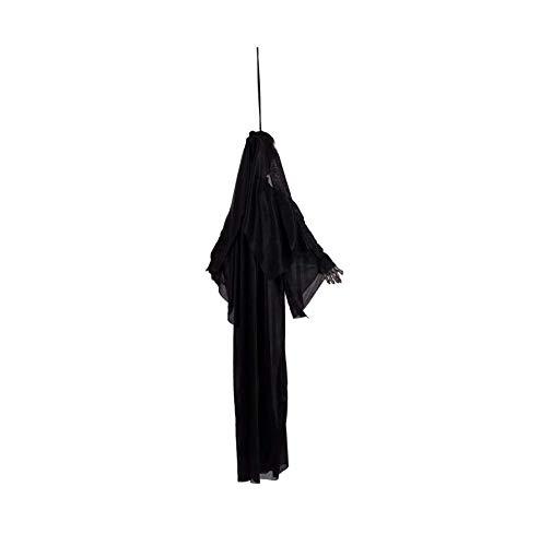 us Dekoration Horror Hängende Geist Sprachsteuerung Halloween Big Ghost,Black ()