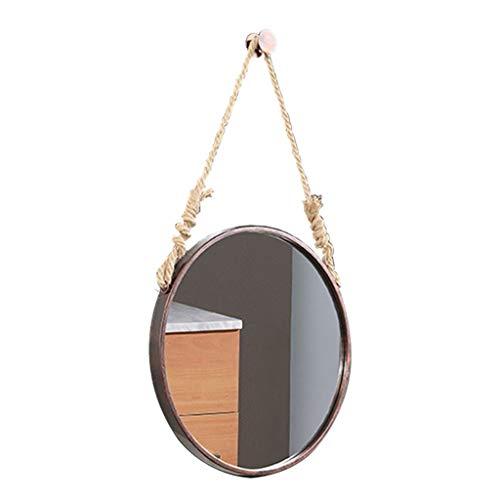 Kommode Runde Spiegel (Runder Wandspiegel mit hängender Kette Kommode Spiegel Badezimmer Saubere große Wand Mirro hängende Wandspiegel Dekor für Waschraum Badezimmer Eingänge)