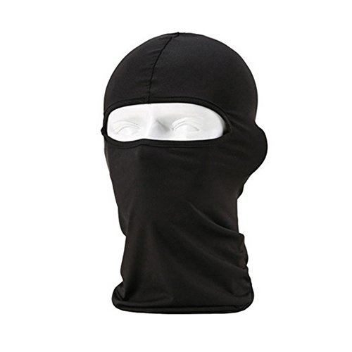 Outdoor Motorcycle Cycling Ski Neck Protecting Lycra Balaclava Full Face Mask (Black) by Phoenix b2c