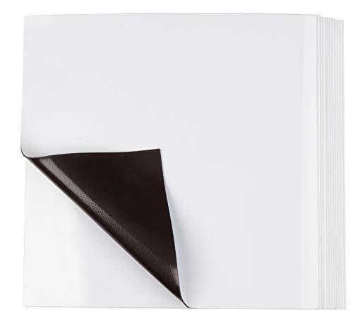12Stück magnetische trocken abwischbare Blatt-Mini Magnetisch Noten für Kühlschrank, Spind, Tafel, Schule, Zuhause, Büro, 10,4x 10,4cm, weiß - Mini-kühlschrank-kalender