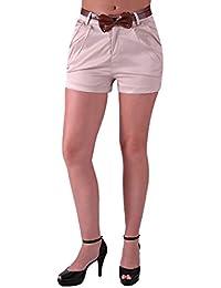 EyeCatchClothing - Damen Short im sportlichen Chino Style mit Gürtel
