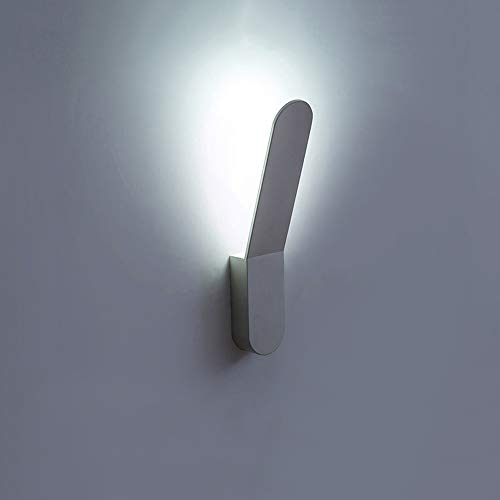 Wandlampen-Lampe ein, weiße Innenwand-Wandleuchte-Leuchte an der Wand befestigte Leuchte mit Einsteck-Schnur-Ein/Aus-Schalter Metallschwingarm-Wandlampen für Schlafzimmer-Nachtle ()