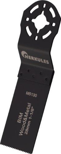Herkules M5130 Lame de scie bimétal pour ponceuse multifonction sur bois, agglos, plastique, aluminium, tôle d'acier, métaux non ferreux 48 x 28 x 0,8 mm 18 dpp