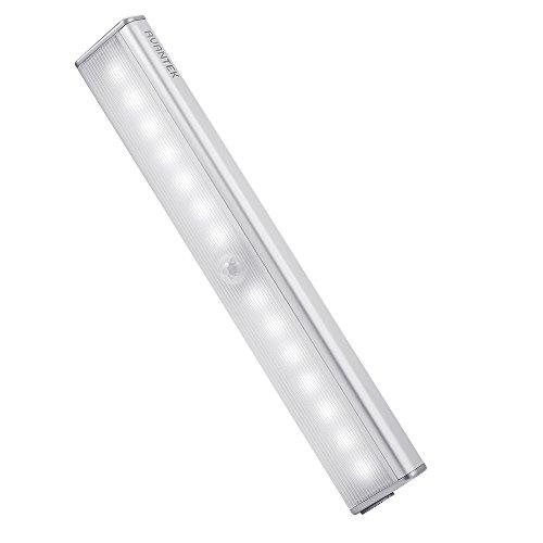 [Avancé] AVANTEK Réglette Veilleuse à Détection de Mouvements à 3 Mètres, Lampe LED 4 modes de Lumière Eclairage, 800 mAh Batterie Lithium Rechargeable 65 Lumens 6500K Blanc Froid 6500K [Classe énergétique A +] pour Placard Escalier Couloir
