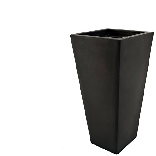 Pot carre design 405 x 405 mm Noir