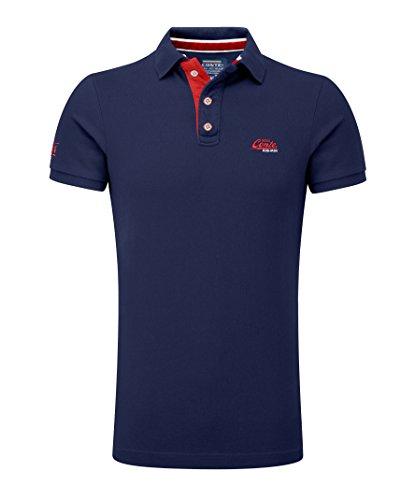 M.Conte Herren Poloshirt Basic Men's Kurzarm Polohemd T-Shirt Polo-Shirt Pique- Gr. XXXL, Dunkel-Blau