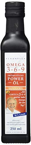 Schuhbeck Frühstücks Power Öl - Sanddorn Omega 3-6-9, 1er Pack (1 x 250 ml)