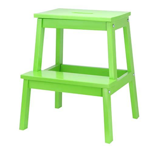 Folding chair Chaise - escabeau, Tabouret d'escalade, Multi-Fonction Mazar/Banc à Chaussures/escabeau/en Bois Massif (Couleur : F)