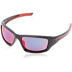 Oakley - Gafas de sol Rectangulares Valve, Polished Black/Positive Red Iridium (S3)