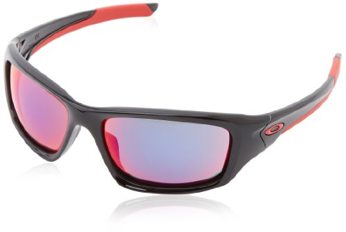 Oakley Sonnenbrille Valve Polished Black/Positive Red Iridium (S3), 60