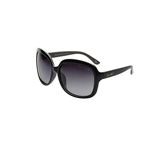 KEHUITONG Sonnenbrille, Damenbrille, große gerahmte Gesicht polarisierte Sonnenbrille, treibender Spiegel, hohe Qualität, Hohe Qualität (Color : Polarized Black)