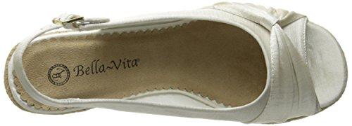 Bella Vita Sangria Too Large Synthétique Talons Compensés Wht