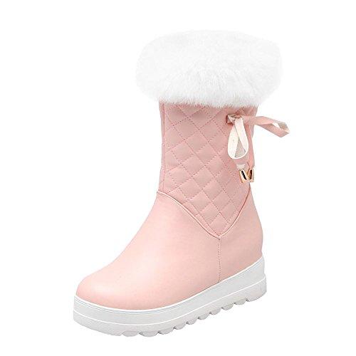 Mee Shoes Damen hidden heels halbschaft Reißverschluss Stiefel Pink