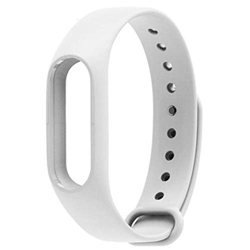 Shuda Xiaomi Mi Band 2 Ersatz-Armbanduhr, Silikon, wasserdicht, verstellbar, Fitness-Armband, Zubehör für Xiaomi Mi Band 2, Schwarz, weiß, 23 cm