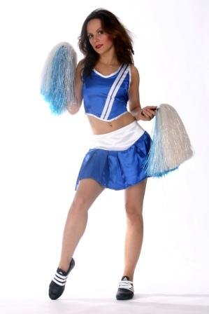 Cheerleader Kostüm für Damen Gr. XS Cheerleading Kostüm Outfit (Erwachsene Cheerleading Outfits)