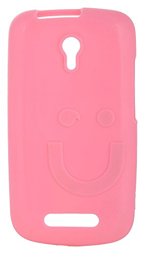 iCandy™ Imported Quality Soft TPU Smiley Back Cover For Micromax Bolt A46 - Pink  available at amazon for Rs.165