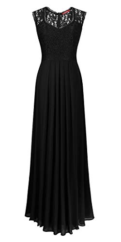 Romantic-Fashion Damen Abendkleid Cocktailkleid Lang Ballkleid Modell B623 Ornamente Applikationen...