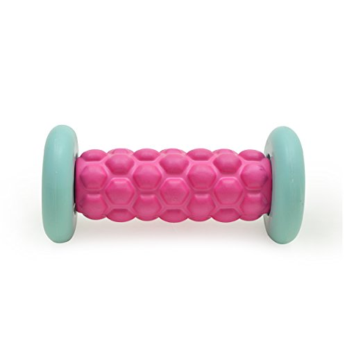 Zen Power Fuß-Roller, Kleine Faszien-Rolle für Reflexzonen-Massage 16x7,5 cm in pink/Mint (Pink Massage-roller)