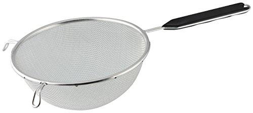 Fackelmann Sieb Ø 20 cm, Küchensieb aus Edelstahl, feinmaschiger Seiher mit Griffeinlage aus...