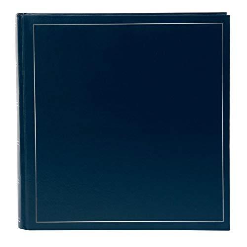 Goldbuch Fotoalbum, Classic, 30 x 30 cm, 100 weiße Seiten mit Pergamin-Trennblättern, Kunstleder, Blau, 31372