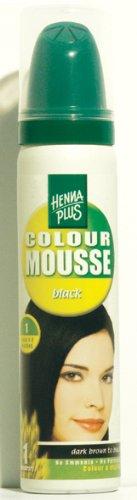 HennaplusColour Mousse Black 1 - 75 ml