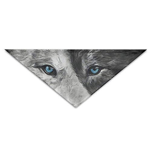 Gxdchfj Black White Wolf Triangle Pet Scarf Dog Bandana Pet Collars Dog Cat - Birthday