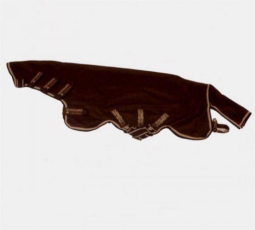 Horseware Rambo Grand Prix Dustbuster Plus Lite 0g- Navy with Beige, Baby Blue & Navy - Abschwitzdecke, Groesse:115